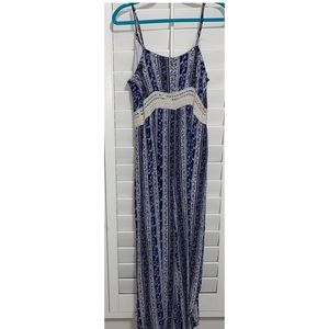 Blue & tan striped romper.. with a sexy twist! 😉
